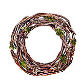 Round Twisted Vine & Artificial Moss Christmas Wreath