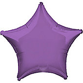 Spring Lilac Star Balloon - 19' Foil (each)