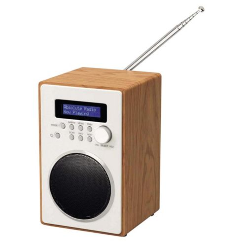 Tesco DR1302 Wooden Tower DAB Radio