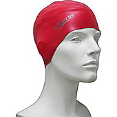 Speedo Senior Silcone Swimming Cap - Red