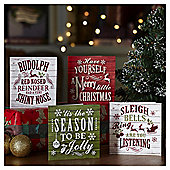 Deck the Halls Slogan Christmas Cards, 20 pack