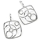 9ct White Gold 7pts Diamond Diamond Deco-style Studs Earring