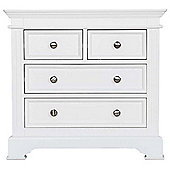 Ultimum Banbury Elegance White 2 Over 2 Chest of Drawers