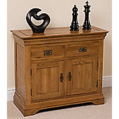 Bordeaux Rustic Solid Oak Small Sideboard