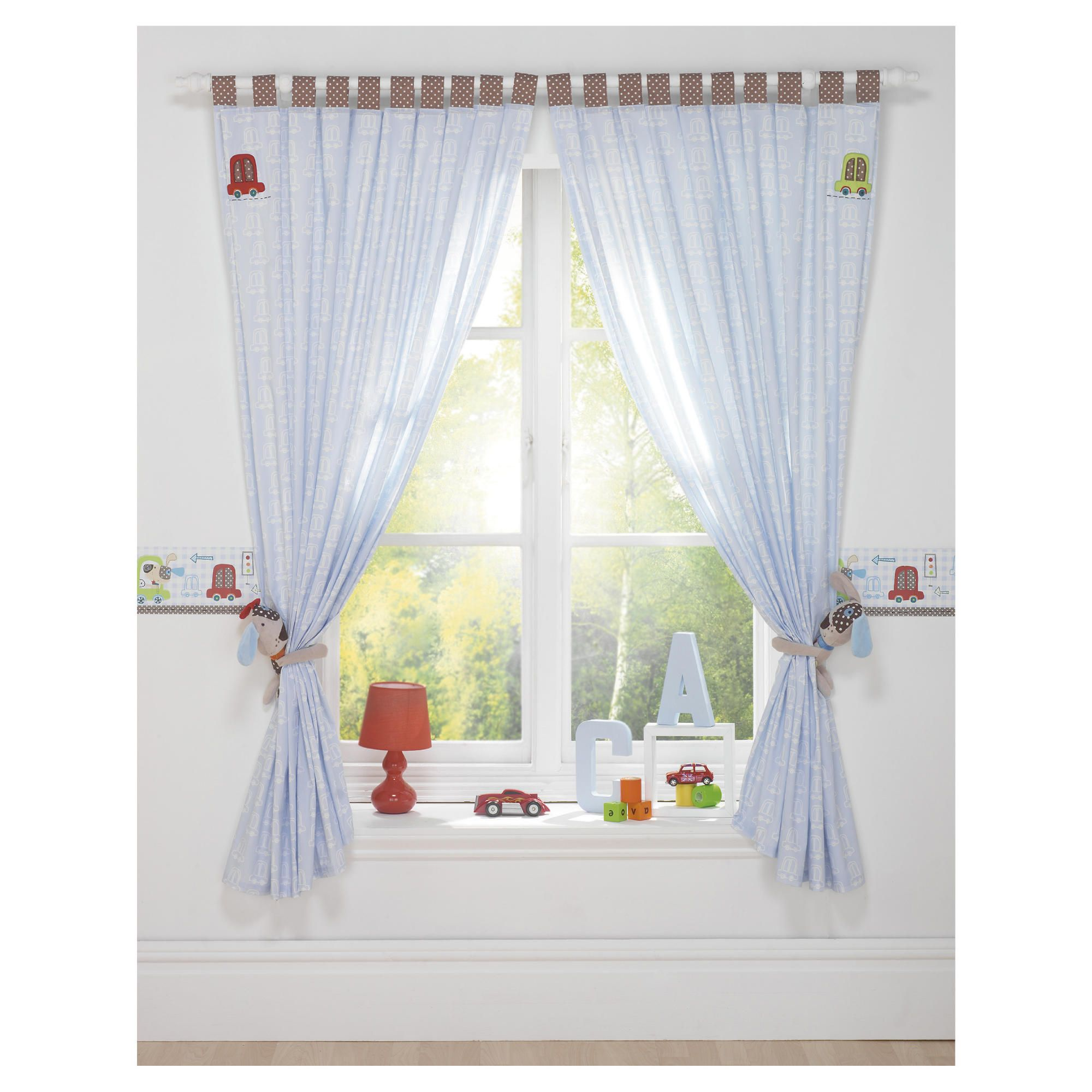 Lollipop Lane Speedy Pup Curtains 167X183cm