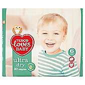 Tesco Loves Baby Ultra Dry Size 6 Ex Lge Econ Pk 30