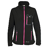 Trespass Ladies Homelake Softshell Jacket - Black
