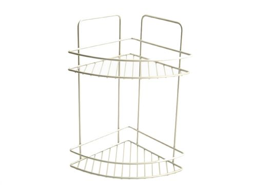 Metaltex 404213 Bath Corner Shelf 2Tier Polythm