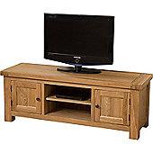 Cottage Solid Oak Widescreen TV Unit