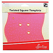Sew Easy Pink Twisted Square Acrylic Patchwork & Quilting Template