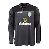 2013-14 Aston Villa Away Goalkeeper Shirt (Black) - Black