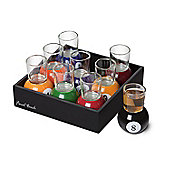 Final Touch Pool Shots Glass Shooter Glasses Set, Multi-Colored
