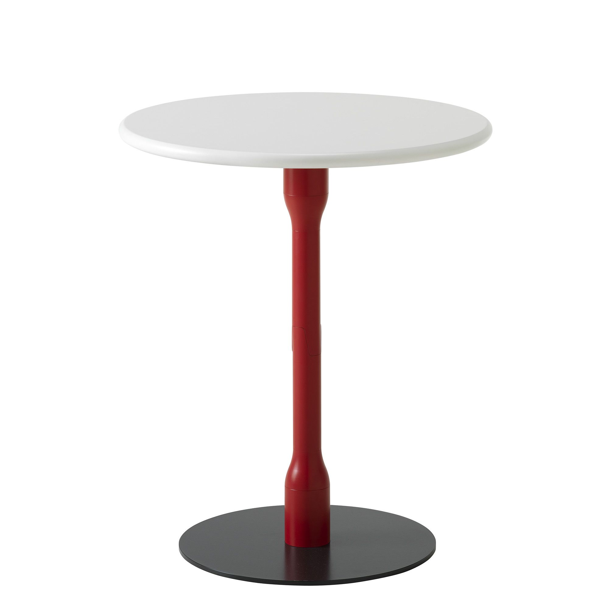 Casamania Bek Round Coffee Table - Painted Metal Red - White at Tesco Direct