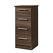 Welcome Furniture Contrast 4 Drawer Chest - Vanilla