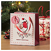 Robin Christmas Gift Bag, Small