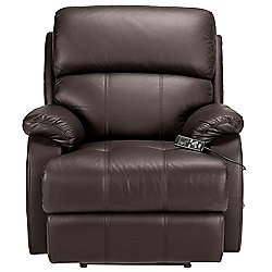 Massage Leather Recliner Chair Brown