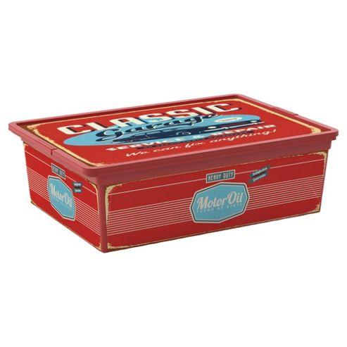 buy plastic storage box 27l vintage motor design from. Black Bedroom Furniture Sets. Home Design Ideas
