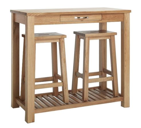 Sherwood Oak Breakfast Table and Stools