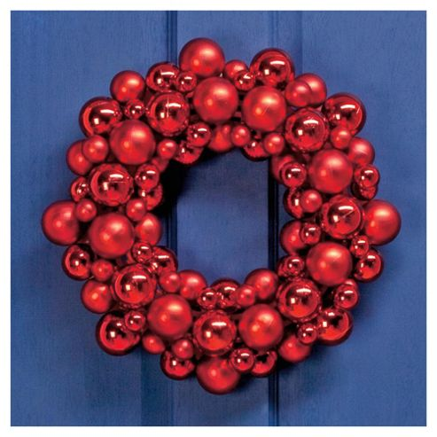 Tesco Red Bauble Wreath