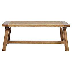 Portobello Trestle Coffee Table Rustic Pine