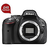 Nikon D5200 SLR Camera Body Only Black 24.1MP