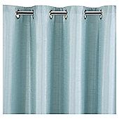 Faux Silk Eyelet Curtains - Eau de nil