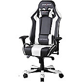 DXRacer King Series Gaming Chair Black / White OH/KF06/NW