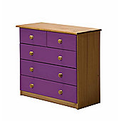 Verona Drawer Chest 3 + 2 Colour Antique and Lilac