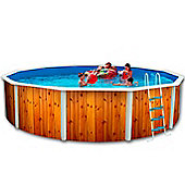 White Coral Wood Effect Steel Pool 5.5m x 1.2m