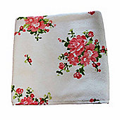 Homescapes Floral Printed Cream Bath Sheet 100% Cotton