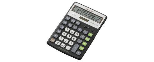 Sharp Recycled Eco Calculator 12-Digit Black EL-297BBK