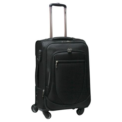 Tesco 4-Wheel Expandable Suitcase, Black Medium