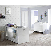 Tutti Bambini Sovereign 2 Piece Nursery Room Set, High Gloss White