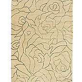 Think Rugs Cambridge Natural Beige Knotted Rug - 150 cm x 240 cm (4 ft 11 in x 7 ft 11 in)