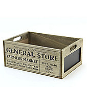 General Store Wooden Crate with Chalkboard