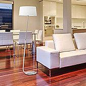 Faro Hotel 1 Light Floor Lamp - White
