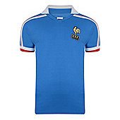 France 1986 World Cup Home Shirt Blue XL