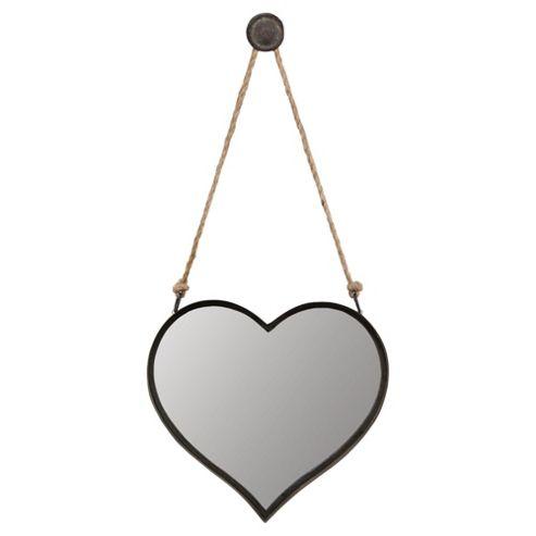 Metal Heart Hanging Mirror