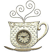 House Additions Metal Art Teapot Wall Clock