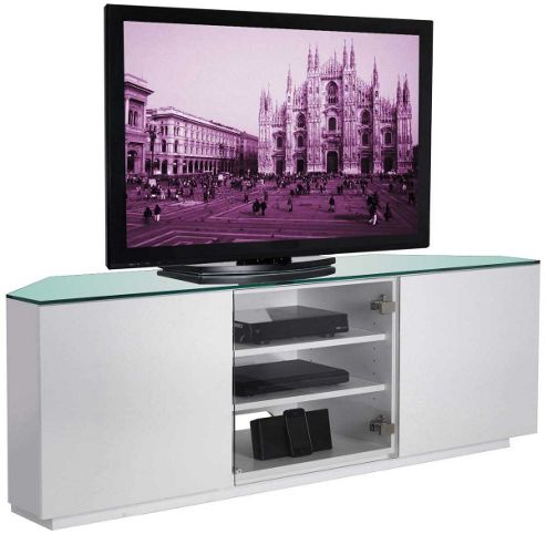 UK-CF White Corner TV Stand for up to 60 inch