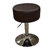 Artic Brown Faux Leather Swivel Bar Stool