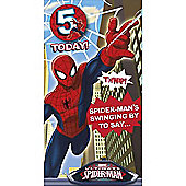 Marvel Spider-Man Birthday Card - 5 Years
