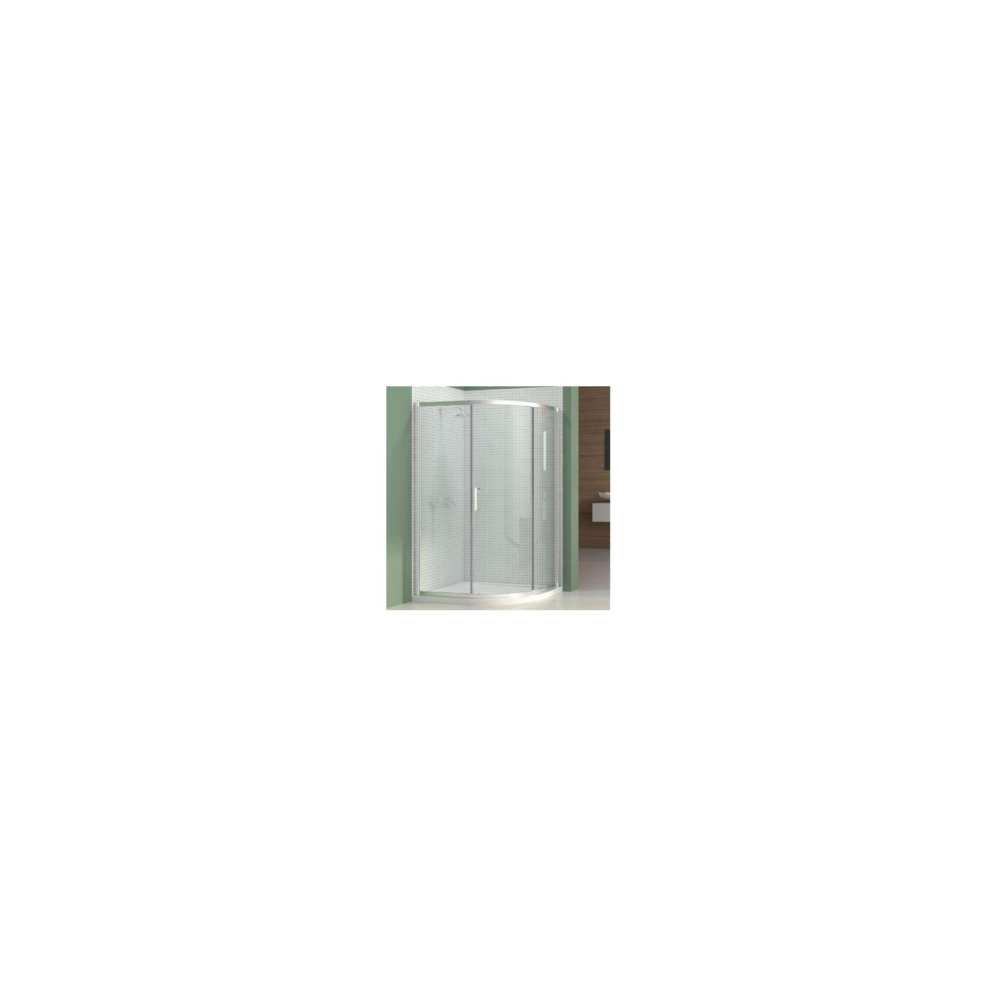 Merlyn Vivid Six Offset Quadrant Shower Enclosure, 1200mm x 800mm, Right Handed, Low Profile Tray, 6mm Glass at Tesco Direct