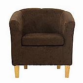 Kendal Chocolate Brown Suede Tub Chair