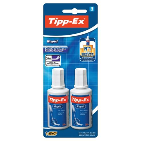 Tipp-Ex Rapid Corrector Fluid, 2 Pack