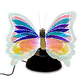 RGB Colour Changing LED Fibre Optic Butterfly Table Lamp