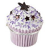 Mini Lilac Sprinkles Cupcake Treasured Trinket