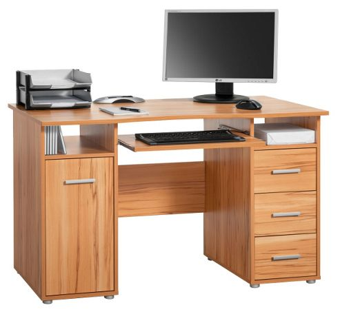 Buy maja camden beech computer desk from our office desks tables range tesco - Tesco office desk ...