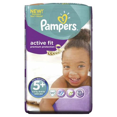 Pampers Active Fit Size 5+ Carry Pack - 20 nappies