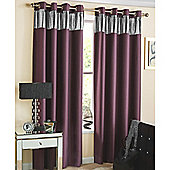 Ibiza Eyelet Blockout Lined Curtains purple - 229X183 cm